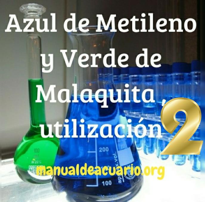 Uso de azul de metileno y verde de Malaquita 2