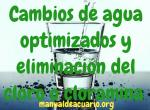 Cambios de agua optimizados y eliminacion del cloro o cloramina