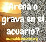 Arena o grava en el acuario