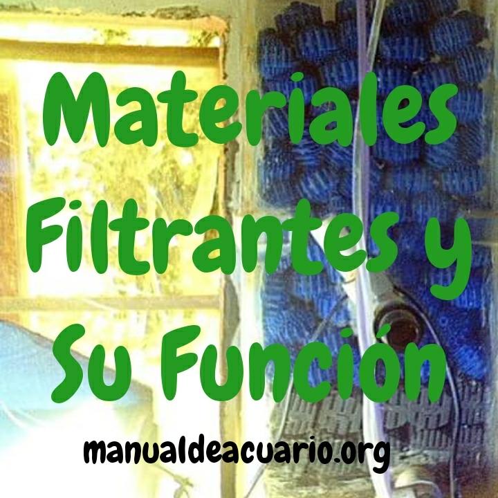 Orden de materiales filtrantes y su función