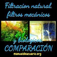 filtración natural comparada con la comercial